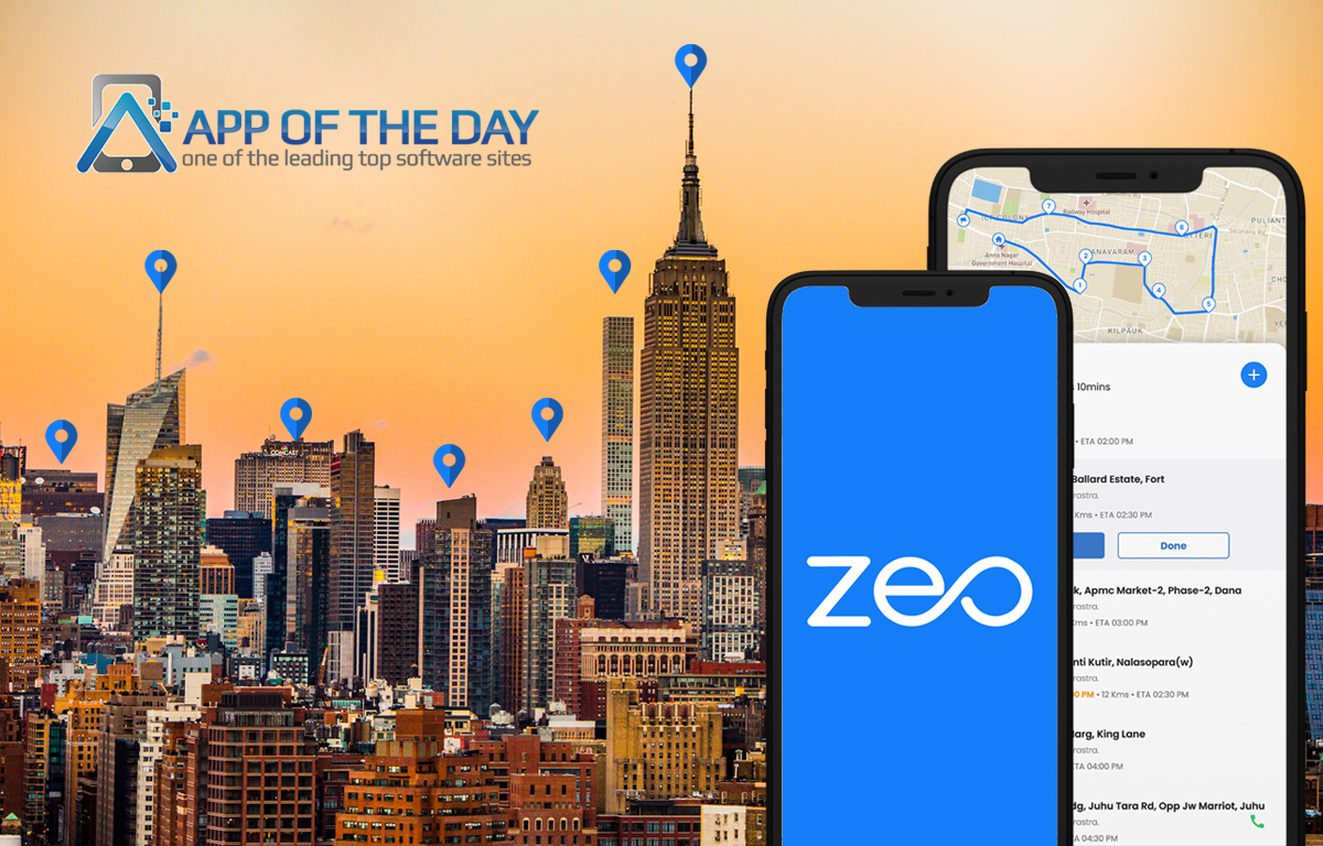 Zeo featured on App of the Day!   Zeo Route Planner